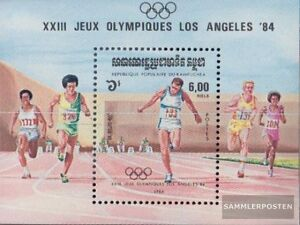 Cambodia block137 (complete.issue.) unmounted mint / never hinged 1984 olympic.