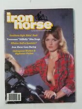 Iron Horse Magazine November 1982 #26 With Centerfold - Bike Drags - Racing