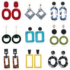 Fashion Women Acrylic Geometric Round Dangle Drop Earrings Statement Jewelry
