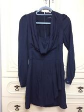 French Connection Navy Blue Cowl Long sleeve dress Size 6