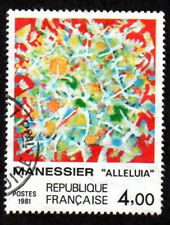 TIMBRE FRANCE 1981 MANESSIER ALLELUIA SERIE ARTISTIQUE OBLITÉRÉ