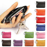 Women Men Leather Mini Coin Change Purse Wallet Clutch Zipper Small Soft Bag NEW