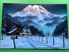Leanin' Tree Christmas Card - Mountain Homestead Theme - ID#592