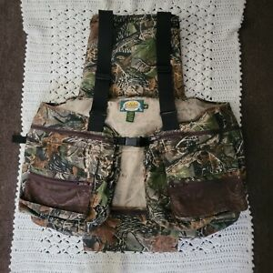 Cabelas Turkey Vest, size XL-3XL with Seat Cushion Hunting Camo Vest