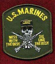 United States Marines Patch / U. S. Marines with Skull and Crossed Rifles - USMC
