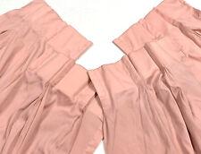 """Set 4 Bundle Pinch Pleat Curtains Drapes Panels 80"""" Unlined Vintage Blush Pink"""