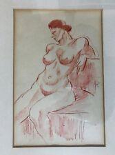Henry Glintenkamp (1887-1946) Ink Drawing Seated Female Nude