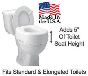 "New Portable Sammons Carex Raised Toilet Seat 5"" H x15"" W x 16"" D"