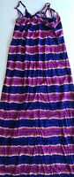 Tommy Bahama Women's Small Long Paint Stripe Summer Maxi Dress Adjustable Strap