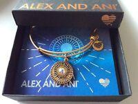 Alex and Ani Midnight Sun Bangle Bracelet Rafaelian Gold NWTBC