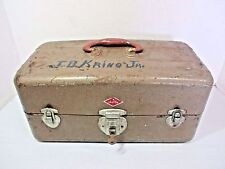 Vtg. Sport King #8007 Lockable Toolbox Chest Fishing Tackle Carrying Case / Key