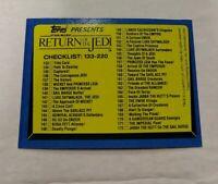 1983 Topps Star Wars: Return of the Jedi #220 Checklist: 133-220 Checklist NM