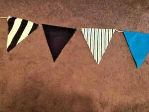 Nautical Pennant Banner or Bunting 14' Handmade Party Wedding or Decorative