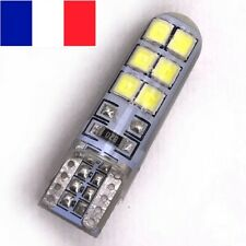 2 VEILLEUSE LED T10 W5W 12 smd Silicone BLANC XENON 6000k ampoule led voiture