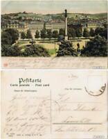 Ansichtskarte Stuttgart Residenzschloss mit Schlossplatz 1905