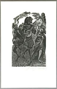 SIGNED/Limited Print   Fritz Eichenberg  1056/2000  Limited Editions Club  1979