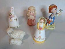 Vintage Avon Porcelain Figurine Bells5 Set 1983-87