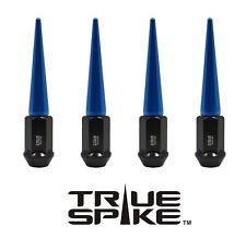"20PC TRUE SPIKE 112MM 9/16"" STEEL LUG NUTS W/ BLUE EXTENDED SPIKES"