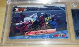 JEFF GORDON signed 1993 Wheels #93 Pit Magic - Auto Autographed Beckett Slabbed