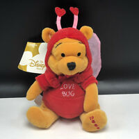 DISNEY STORE PLUSH bean bag stuffed animal Christopher Robin Winnie Pooh firefly