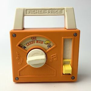 Vintage -1978 Fisher Price Wind Up Musical Radio - The Candy Man