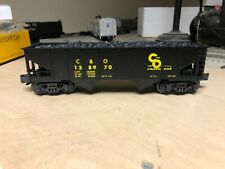 K-Line K622-12516 C&O Ribbed 2-Bay Hopper Car with Coal Load Mint