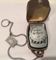 Vintage Argus L3 Light Exposure Meter in Leather Case West Germany VERY CLEAN