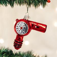 OLD WORLD CHRISTMAS HAIR BLOW DRYER GLASS CHRISTMAS ORNAMENT 32179