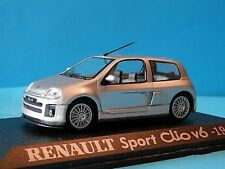 RENAULT SPORT CLIO V6 1999 UNIVERSAL HOBBIES ARGENT 1/43 M6 COLLECTIONS SILVER