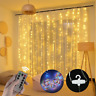 300 LED rideau guirlande lumineuse USB chaîne suspendue appliques murales SH