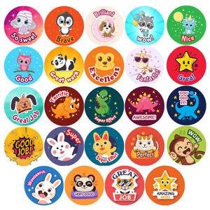 Kids Reward Stickers Labels Children Animals Teachers School Praise Nursery 30mm