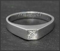 Diamant Solitär Ring mit 0,10ct Brillant, aus 750 Gold, 18 Karat Weißgold