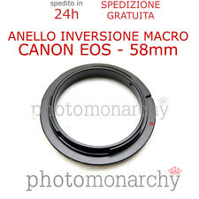 Anello MACRO Inversione 58 mm per CANON EOS 58mm inversion ring CANON adattatore