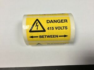 10 x 'Danger 415 volts' Electrical Safety Labels, free post!