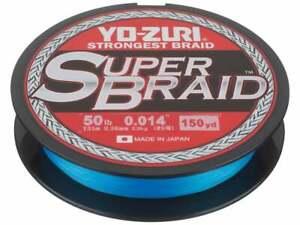 Yo-Zuri SuperBraided Fishing Line 10-80 lb 150Yd Blue Green Salt/Fresh Water 1A5