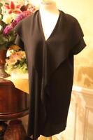 BABETTE PLEATED FABRIC BLACK DRESS SIZE MEDIUM  (DR100
