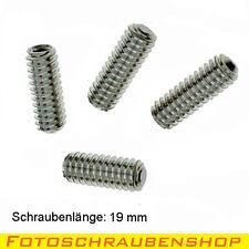 """1/4""""- Edelstahl-Gewindestifte, 4x19mm (Kameraschraube, Zoll, Inch, Screw, UNC)"""