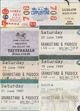 HORSE RACING 5 X ASCOT RACE DAY TICKETS FROM 1997 THROUGH TO 2001 PLUS MORE