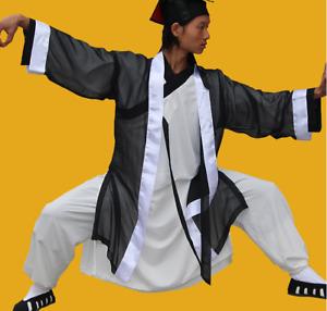 Wudang Robe Tai Chi Morning Chiffon Taoist Practicing Practicing Middle Sleeve