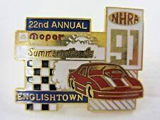 NHRA 91 22th Annual Mopar SummerNational Englishtown NJ Drag Racing Event Pin