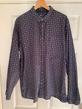 Fred Perry Diamond Patterned Shirt Size XXL Slim Fit