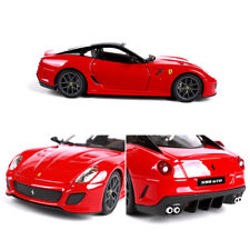 1:24 Red Ferrari 599GTO Bburago Sports Alloy Collection Car Model Toys Gift Box