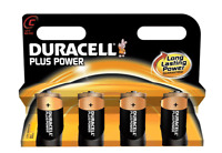 Duracell MN1400 LR14 PlusPower Battery C-size 1.5V Alkaline Pack 4 / Brand New