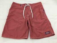 Men's VINEYARD VINES Size 35 Red Board Shorts Swim Trunks Bathing Suit