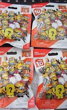 (4) Series 10, Mega Construx, Despicable Me Blind Bags,Sealed