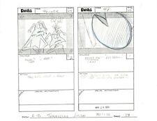 Star Wars: Ewoks season 1985 Original Production Pencil Animation Storyboard 37