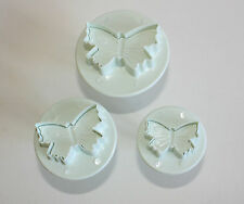 Small Butterfly Plunger Cutter Sugarcraft Set of 3 Cake Decortaing Baking