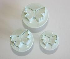 Pequeña Mariposa émbolo Cortador Sugarcraft Set De 3 Pastel decortaing Hornear