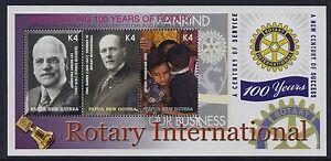 2005 PAPUA NEW GUINEA ROTARY INTERNATIONAL CENTENARY MINI SHEET FINE MINT MNH