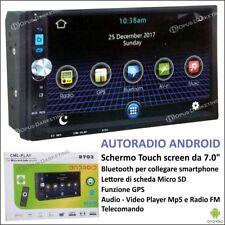 "AUTORADIO ANDROID TELECOMANDO SD SCHERMO TOUCH 7"" MUSICA VIDEO MP5 GPS BLUETOOTH"